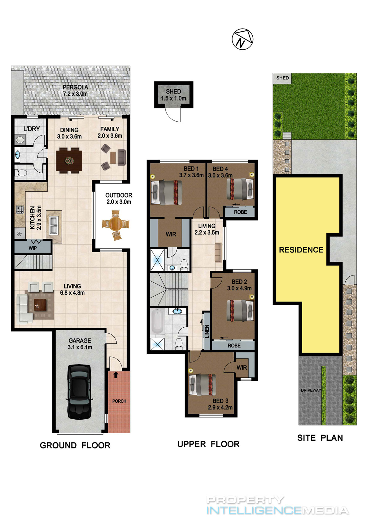 2d 3d floor plans property intelligence media - 3d floor plan free ...